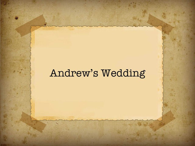 Andrew's Wedding by Moses Sia