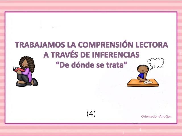 INFERENCIAS PRAGMÁTICAS Y COMPRENSIÓN LECTORA by Zoila Masaveu