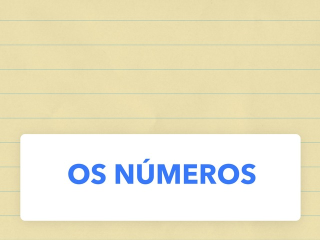 Os Números by Maika Rodríguez