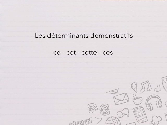 Les déterminants démonstratifs by Cédric Houbrechts