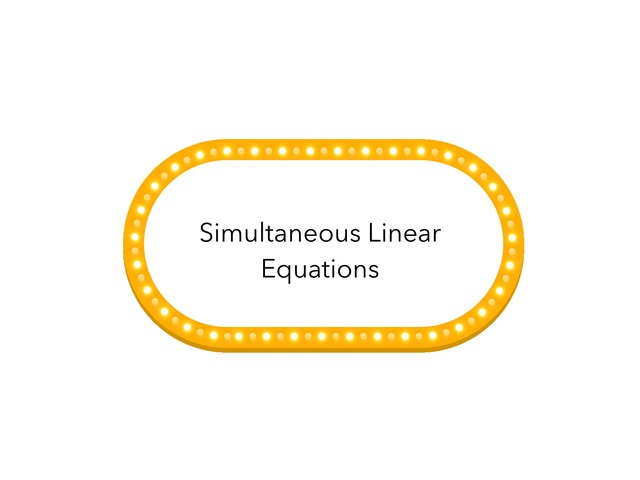 Simultaneous Linear Equations by (Staff) Ng Mun Puay Kimberly