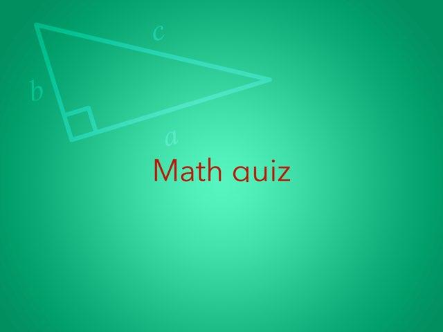 Math Quiz by Vitor Pinho