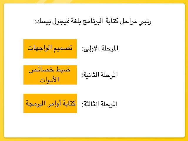 البرمجة بلغة فيجول بيسك ستيديو ( اللعبة الكاملة) by raneem baaqeel