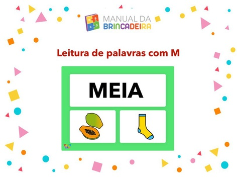 Leitura de palavras com M - Manual da Brincadeira  by Manual Da Brincadeira Miryam Pelosi