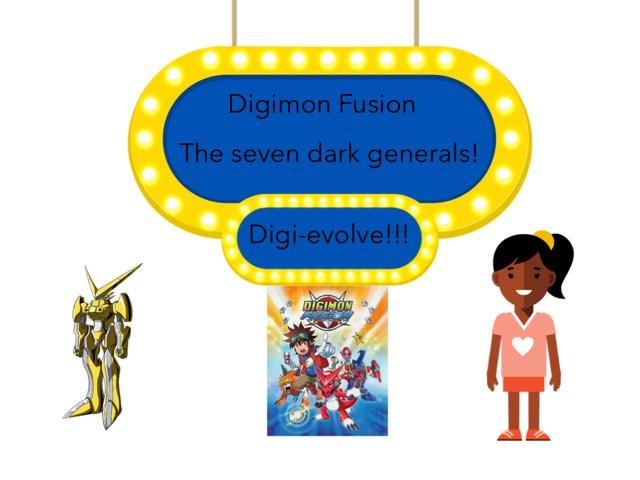 Digimon Fusion (the 7 Dark Generals!)  by Pipoca Laroca