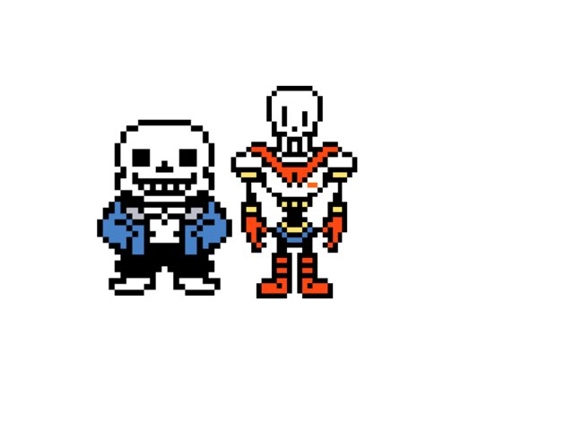 Sans And Papyrus by Mio Lille