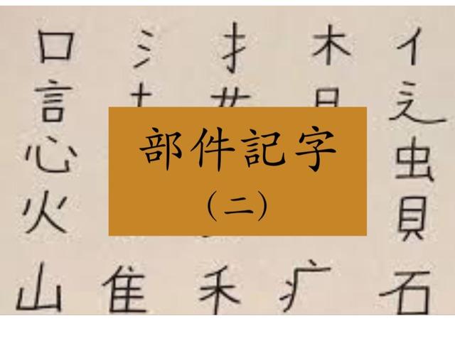 部件識字(二) 白 我 青 果 by Primary Year 2 Admin