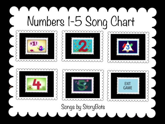 Numbers 1-5 Song Chart by Cici Lampe