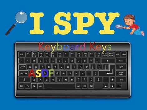 I SPY: Keyboard Keys by Jasmine Shelton
