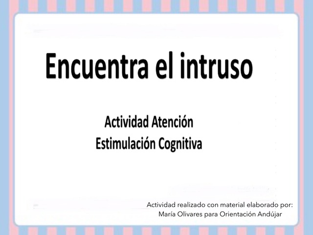 Encuentra El Intruso by Zoila Masaveu