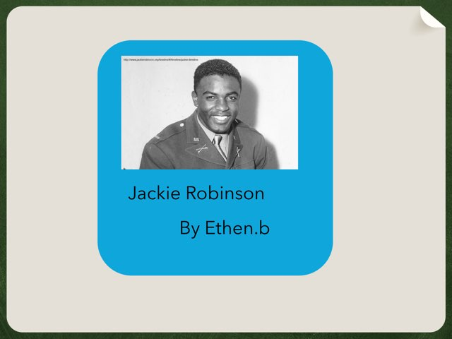 Jackie Robinson By Ethan by Christine Snow