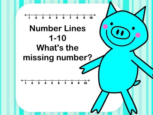 Number Line 1-10 Missing Number by Jennifer