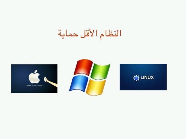 أنظمة التشغيل اول متوسط حاسب الي by Rawia Alhawas