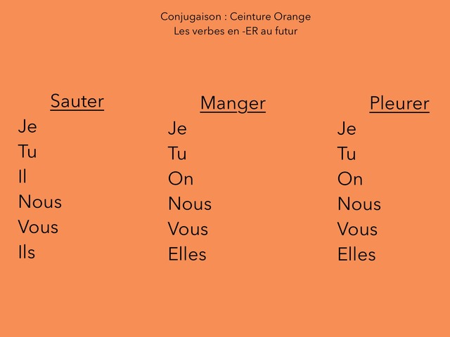Conjugaison Ceinture Orange  by Mathieu Larramendy