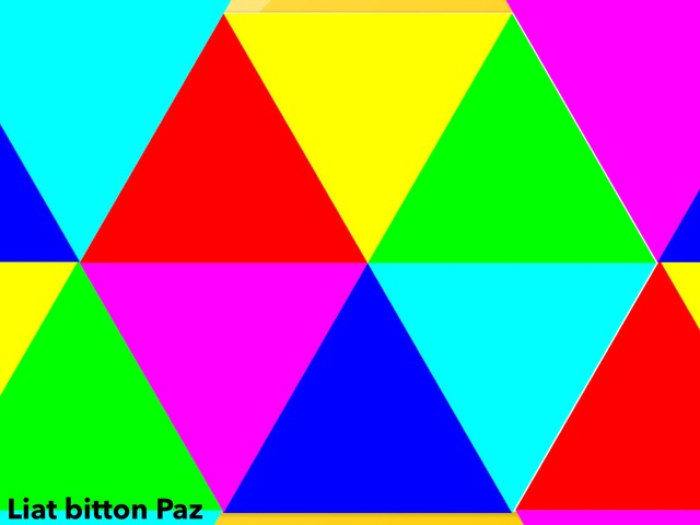 Triangles Puzzle  by Liat Bitton-paz
