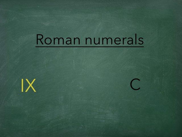 ROMAN NUMERALS by Agustin Torres