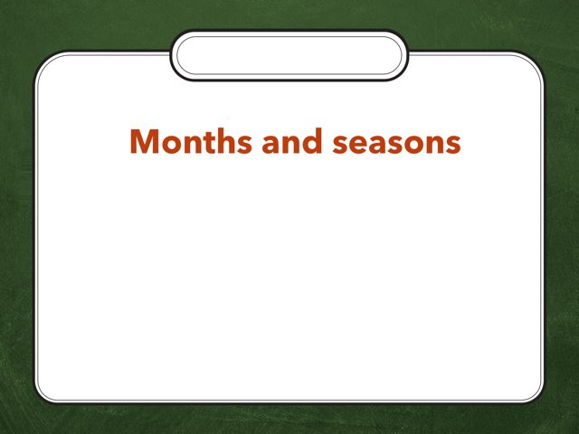 Months and seasons (TGL) by Ilona Zaturskytė