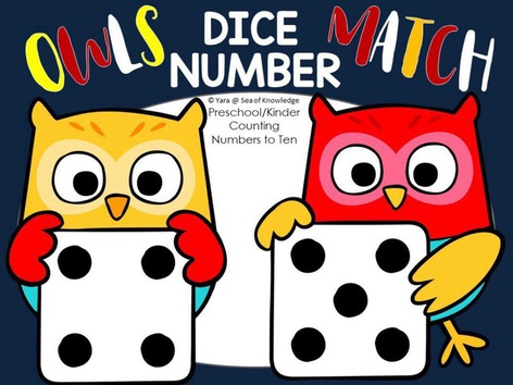 Owls Number Match - Counting Game - Up To 10 by Yara Habanbou