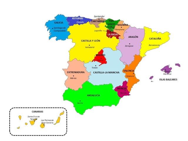 Puzle comunidades Autónomas by Pablo Hernandez Cejudo