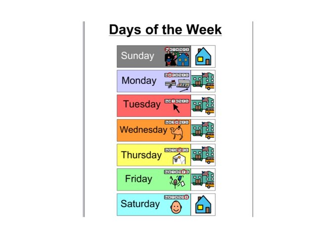 Days Of The Week by Erin Previte