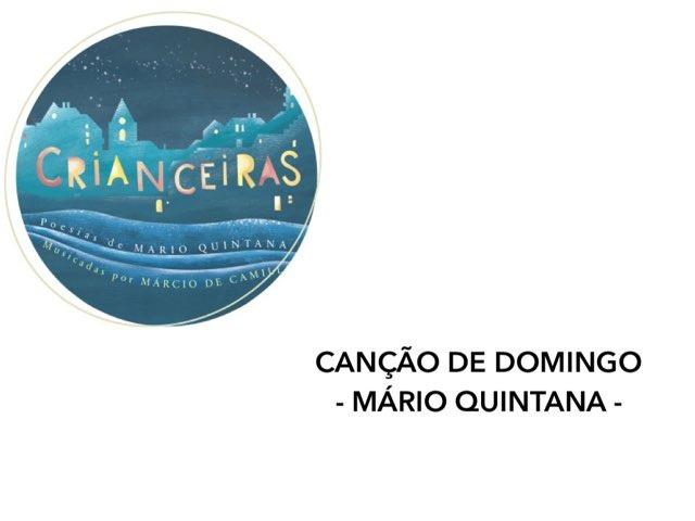 CANÇÃO DE DOMINGO - Atividade Interativa by Renata Giovannelli