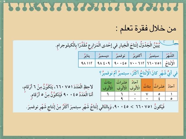مقارنة الإعداد  by Haya All