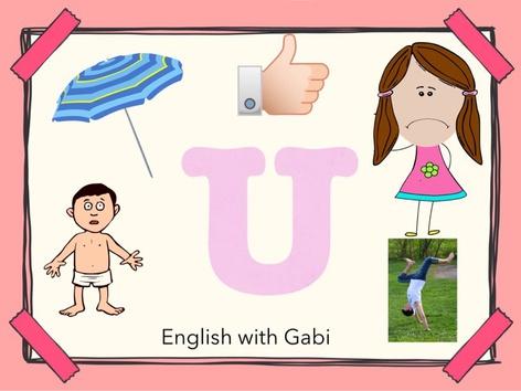 Letter U: Learning Letter Sounds by English with Gabi אנגלית עם גבי