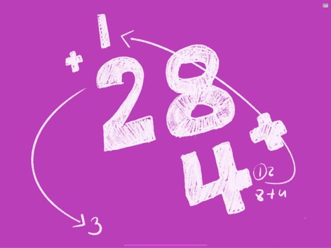 Double Digits Addition (28+4) by Yogev Shelly