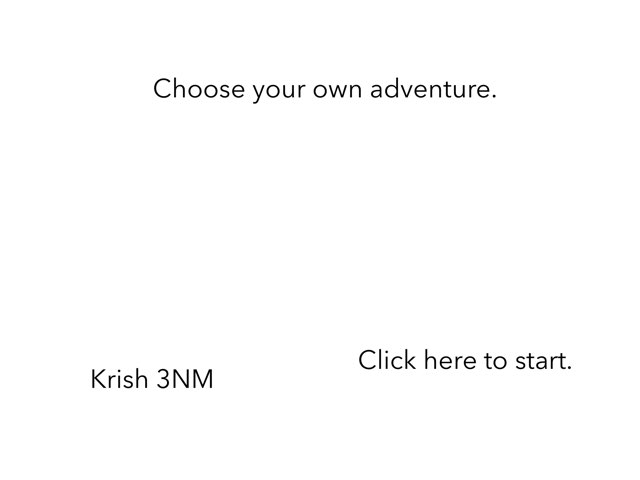 Krish Choose Your Own Adventure  by 3NM iPad