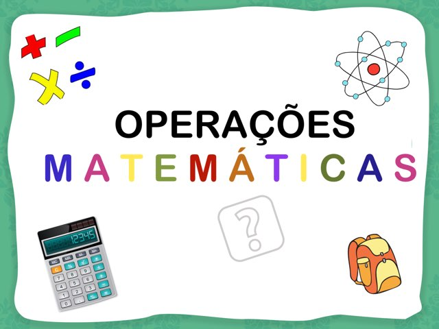 Operações Matemáticas  by Pueri digital verbo divino