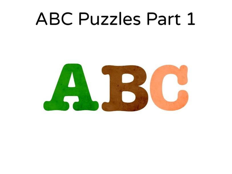 ABC Puzzles Part 1 by Jungwon Choi