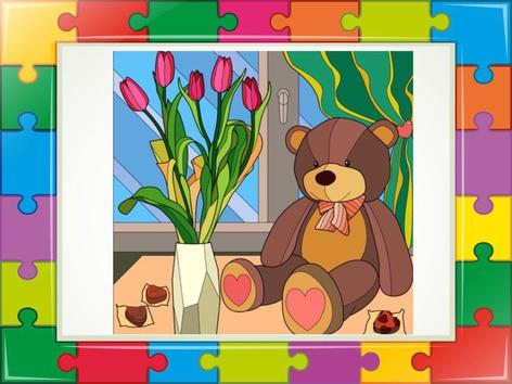Flower Puzzle  by Liat Bitton-paz