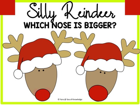 Silly Reindeer Noses Bigger Smaller by Yara Habanbou