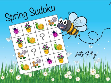 Seasons - Spring Sudoku (Non-Verbal) by Cici Lampe
