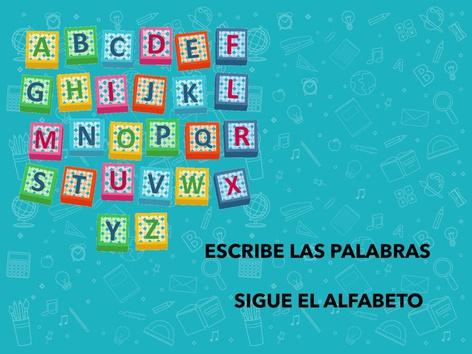 ORDENA. SIGUE EL ALFABETO by Francisca Sánchez Martínez