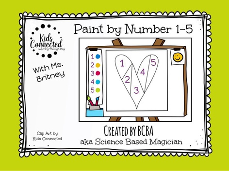 Paint By Number 1-5 Heart(UK) by Kids  Connected