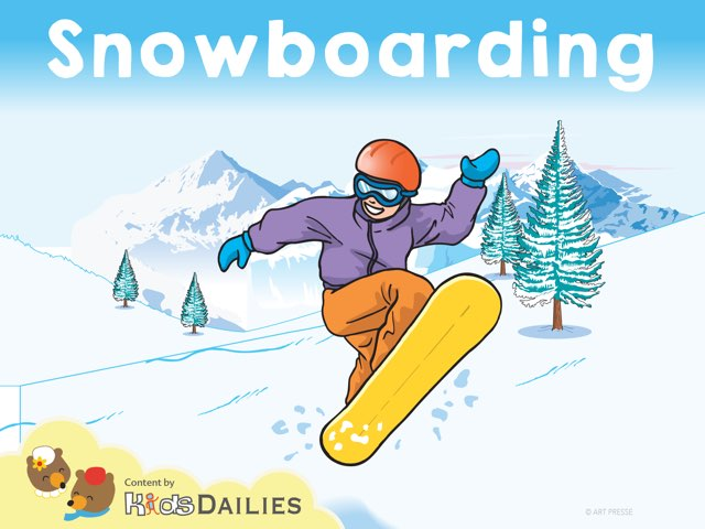 Snowboarding by Kids Dailies
