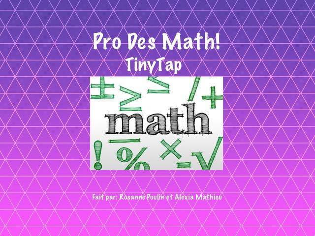 Pro Des Math by Rosanne Poulin