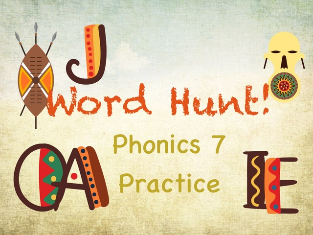 Word Hunt Phonics 7 Practice  by Tony Bacon