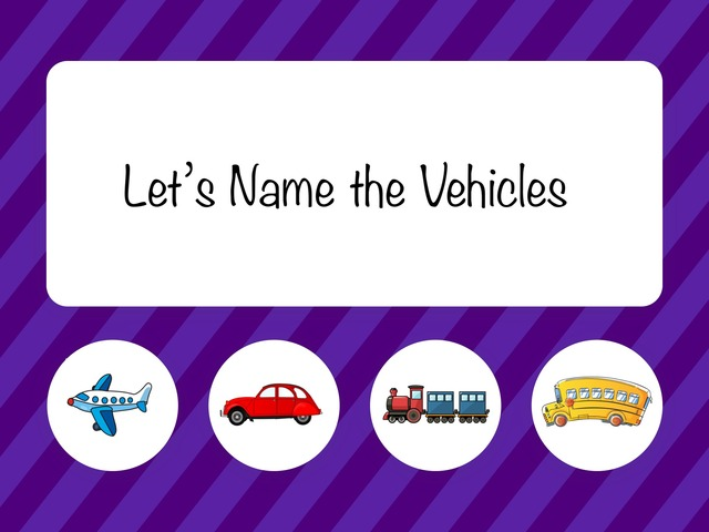 Name The Vehicles by Whitney Shannon