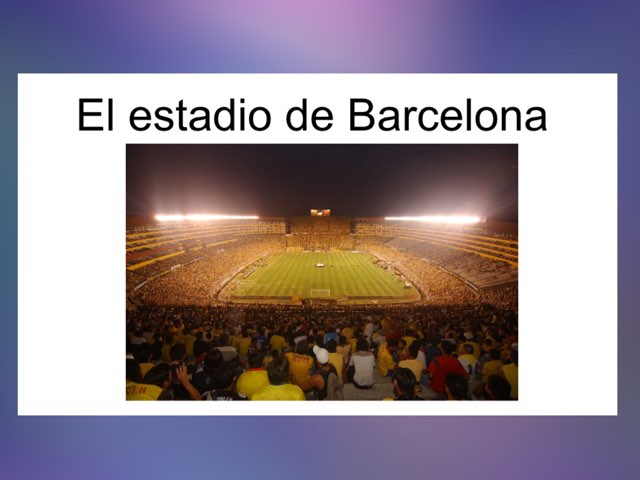 El Estadio De Barcelona by Rodica Harvey