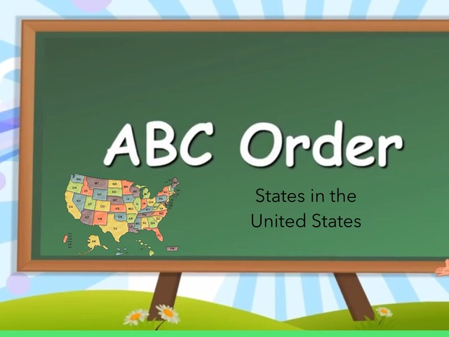 ABC Order: U.S. States by Carol Smith