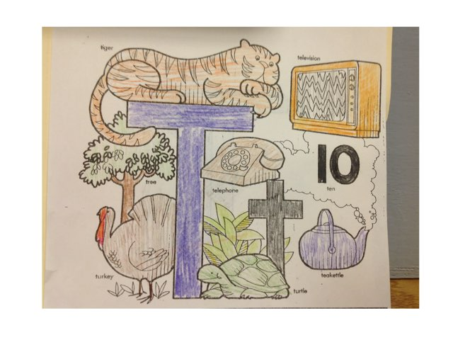 Letter T by Christine Snow
