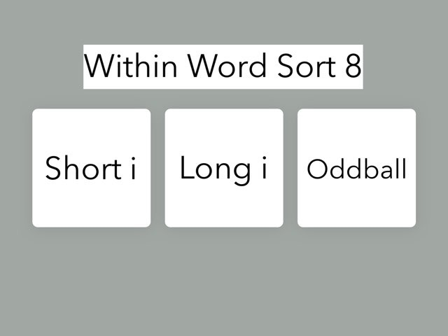 Within Word Sort 8 by Erin Moody