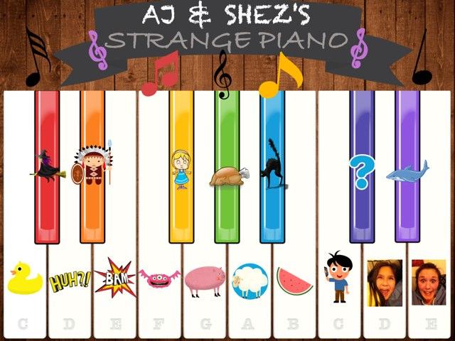 AJ & SHEZ'S STRANGE PIANO by Amelia Hussain
