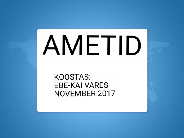 AMETID by Ebe-Kai Vares