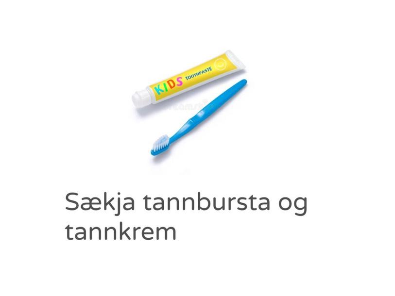 Að bursta tennur by Maren Elíasdóttir