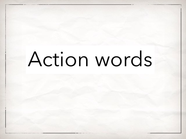 Action Words by Mindy Riechers