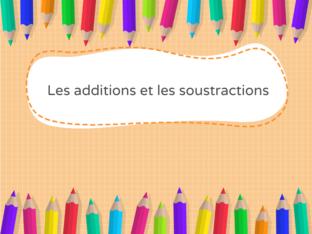 Additions et soustractions - CE1 - Niveau 2 by Cécile Montupet
