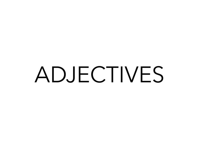 Adjectives by LNCharter FHS
